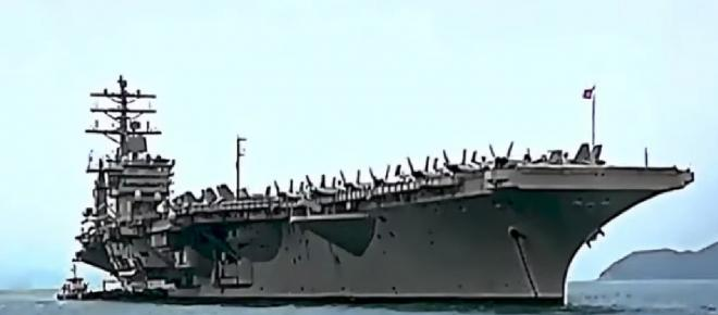UFOs over a US Navy combat ship travel at speeds of more than 160mph