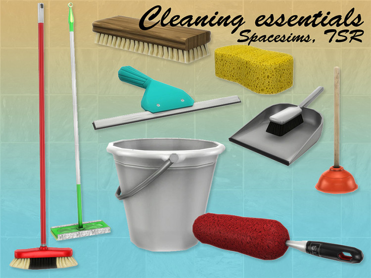 Sims 4 Cleaning Supplies CC, Clutter & Mods –