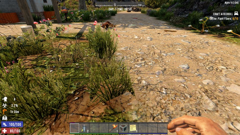 7 Days To Die: How To Gather Plant Fibers