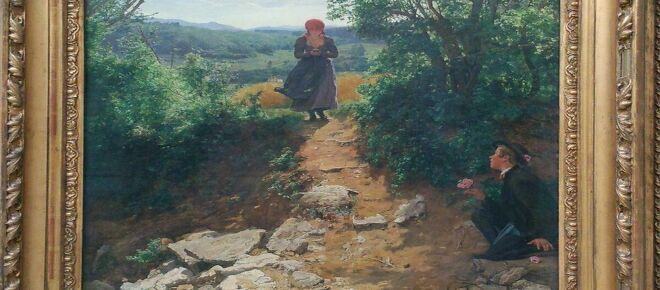 Smartphone spotted in 19th-century painting argue for time travel